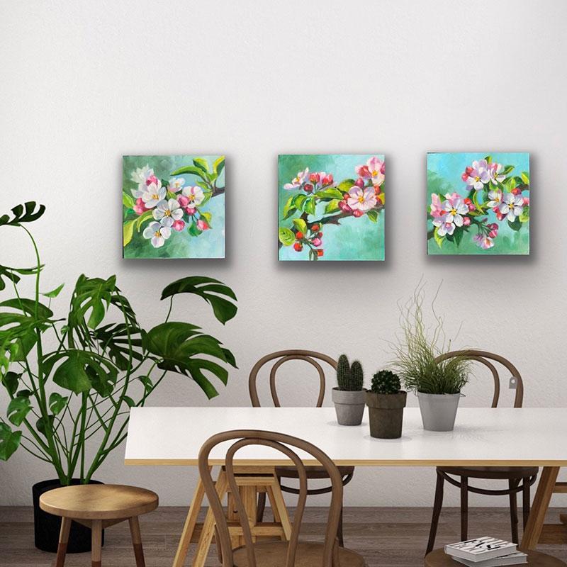 Apple Blossom Trio $300 each/ $850 for trio
