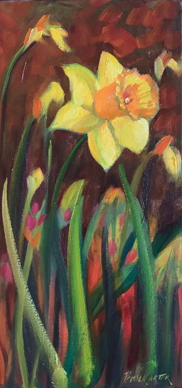 """One Daffodil Beauty 8x16"""" o/c $275"""