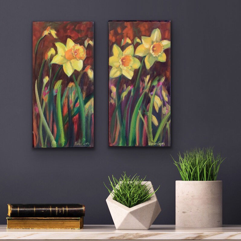 Pair of Daffodil Paintings $475 for both