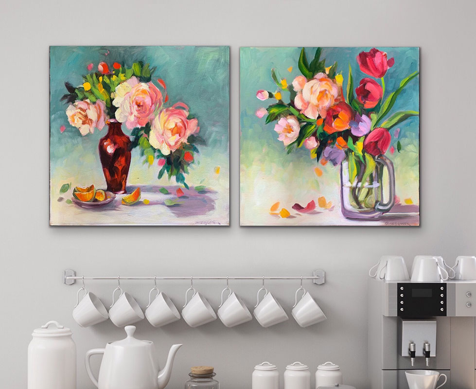"""The 18x18"""" Pair in Situ $900 for both"""