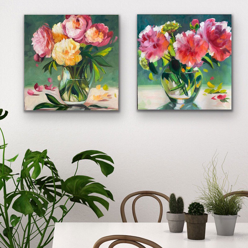 The Peony Pair in Situ..... $950 for both