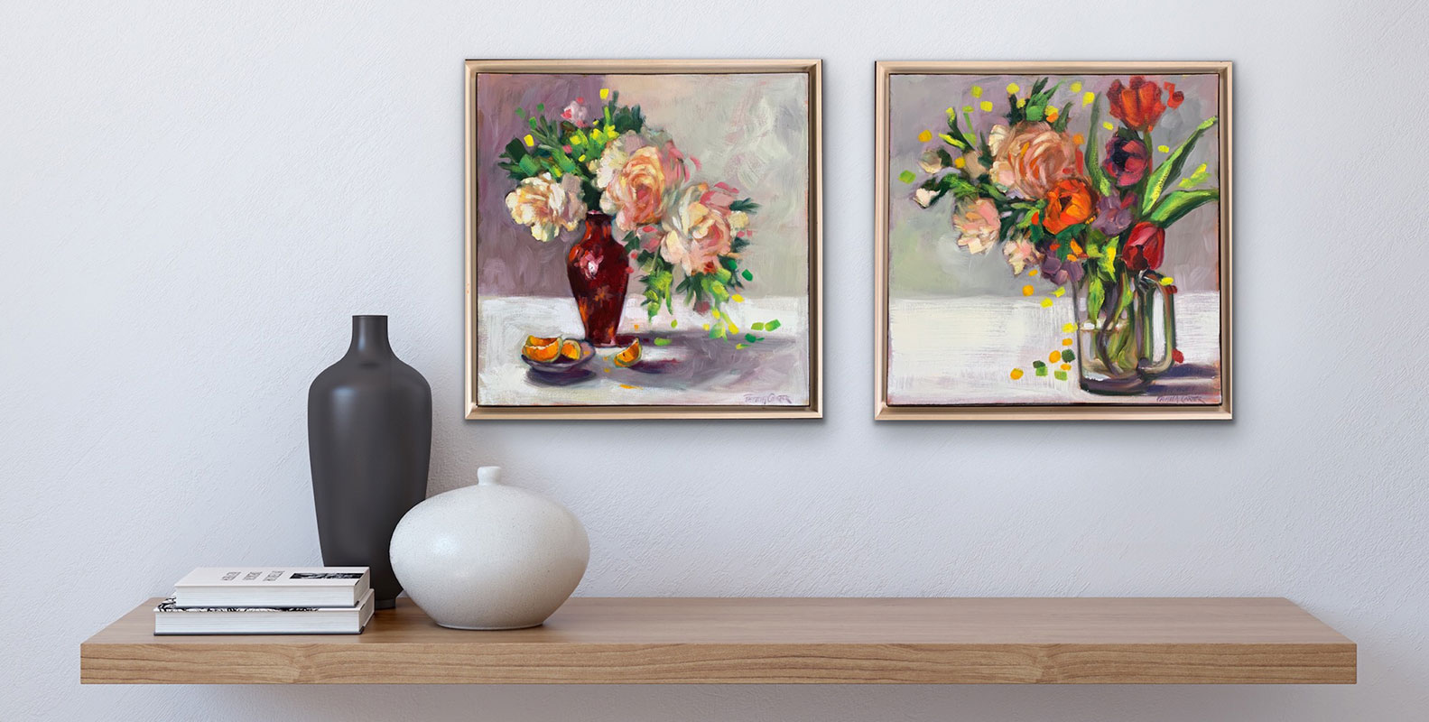 Bouquet & Peonies and Oranges in-situ